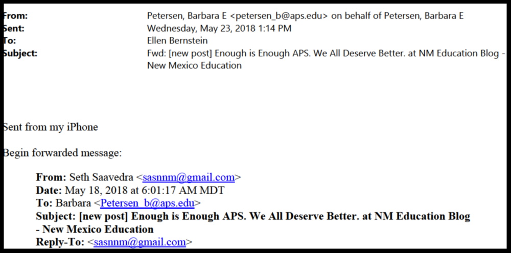 APS // Email from records request.