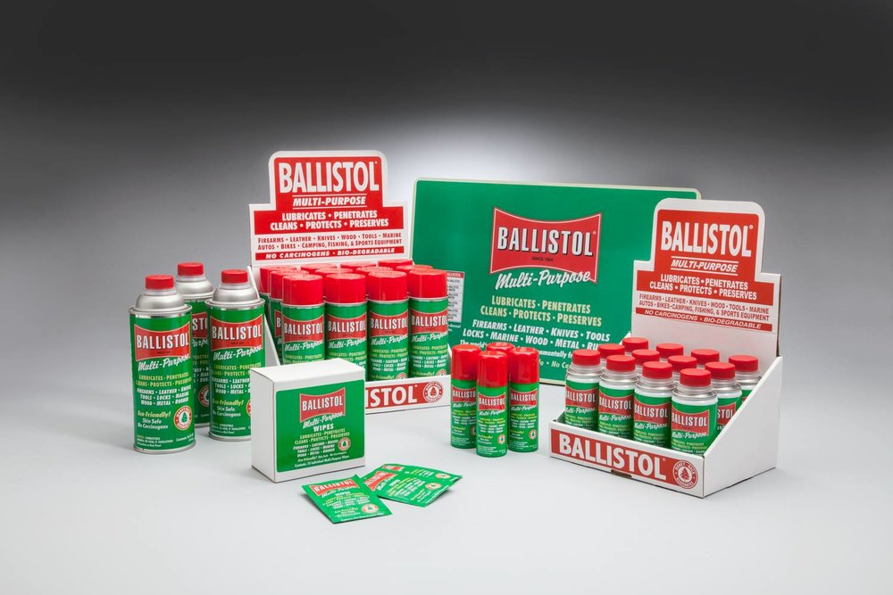 Ballistol - Since 1904, consumers have trusted Ballistol to lubricate, penetrate, clean, protect, and preserve their leather gear,wood,metal surfaces, and more.With an astonishingly wide range of applications, this environmentally friendly multi-purpose oil has become an essential tool for shooters, hunters, fishermen, and handymen all over the world.