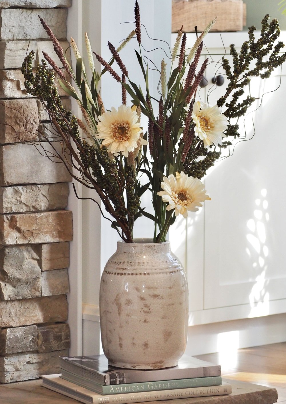 Vase and filler from Hobby Lobby.