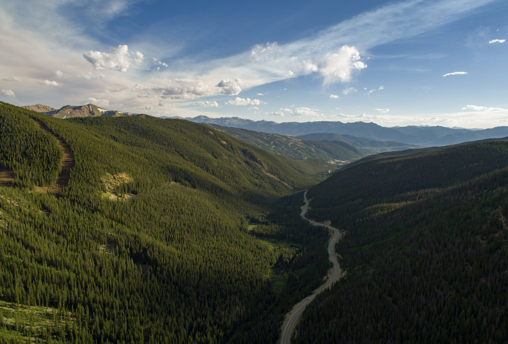 Loveland Pass - looking toward Keystone