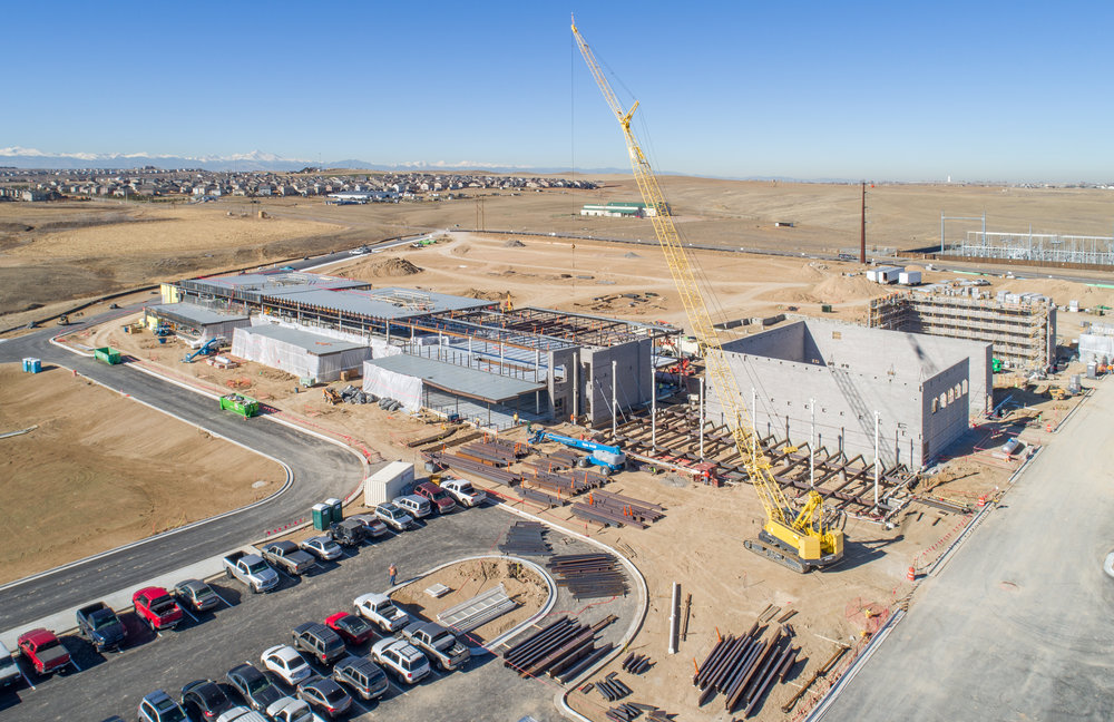 Quist Middle School construction - Thornton