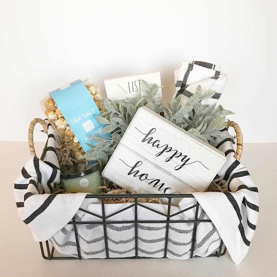 Welcome Home Basket - $60 - Ideal for a housewarming or closing present--Calling all Realtors!