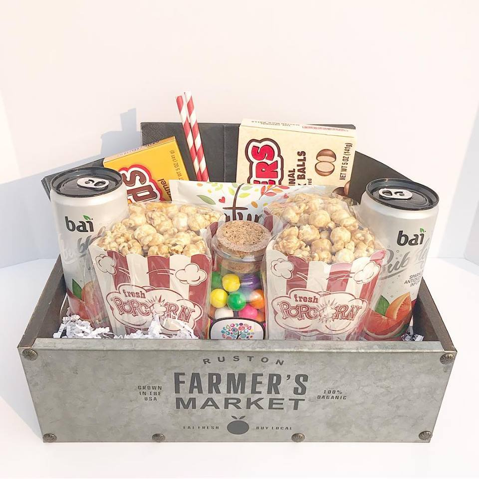 Netflix & Chill Basket - $50 - Staying in? This one is perfect for a night on the couch with your sweetie or best friend--all the munchies!
