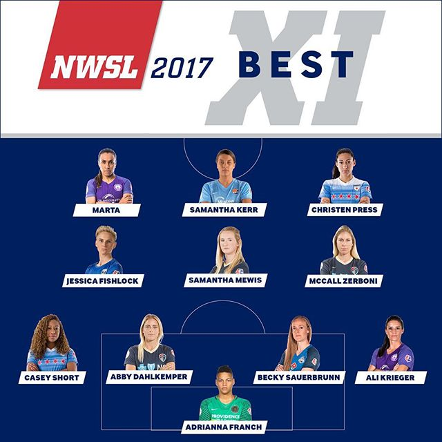 Becky Sauerbrunn named to the NWSL Best XI for the 2017 season!  #WeRepKC