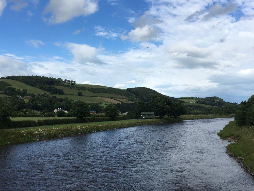 The River Tweed, Melrose