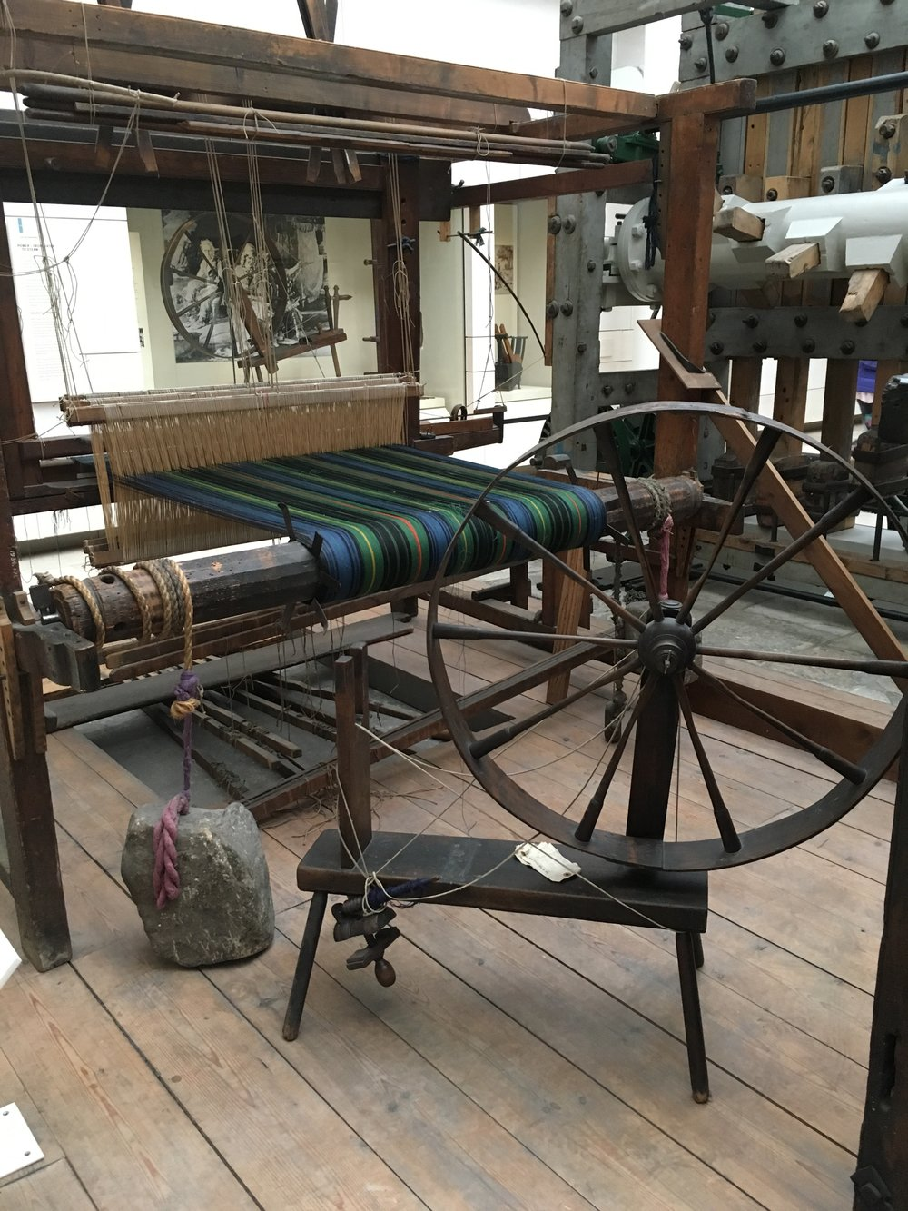 historic loom and spinning wheel