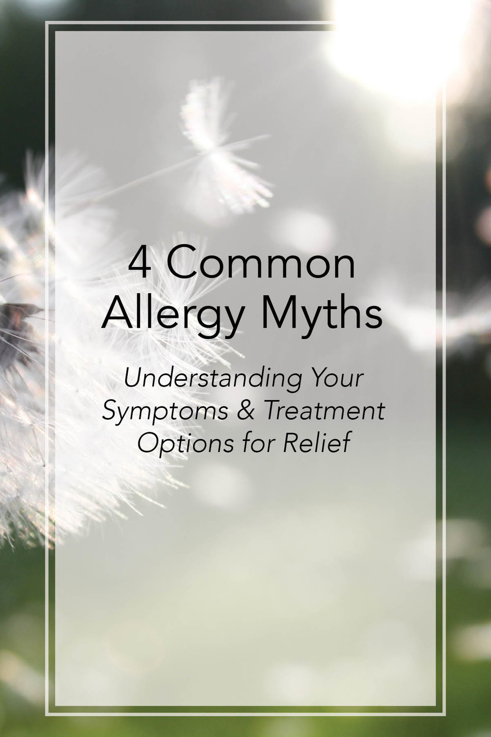 AIM Blog Post - 4 Common Allergy Myths, Symptoms and Available Treatments