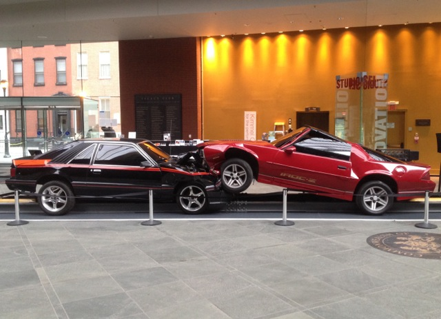 "Jonathan Schipper ""Death of American Muscle"" at the Kimmel Center, Philadelphia (home of Philadelphia Orchestra)"