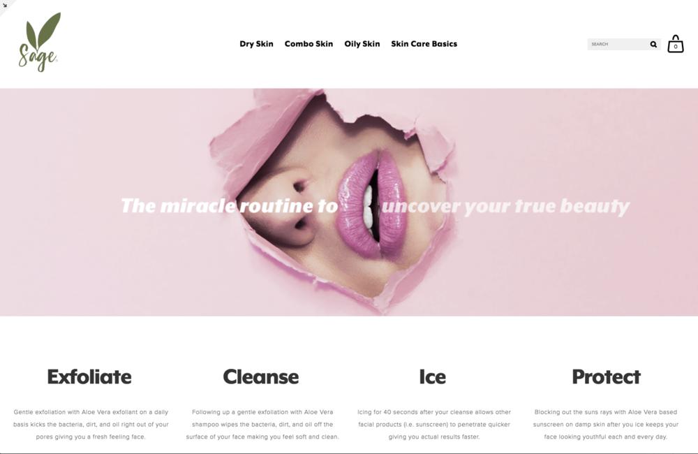 sage skin care new landing page