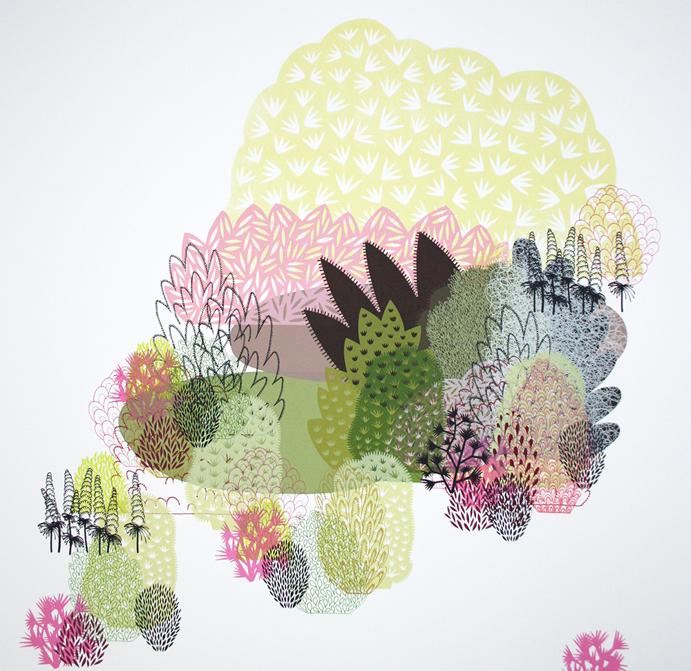 'Foliage Series' screen-print, private commission, 2007.