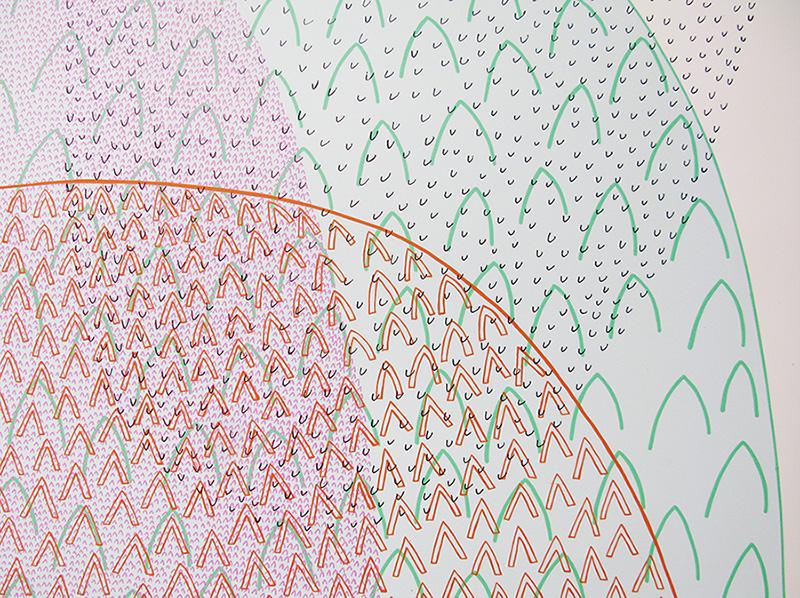 Detail from 'Peak Bagging', screen-print, 2004.