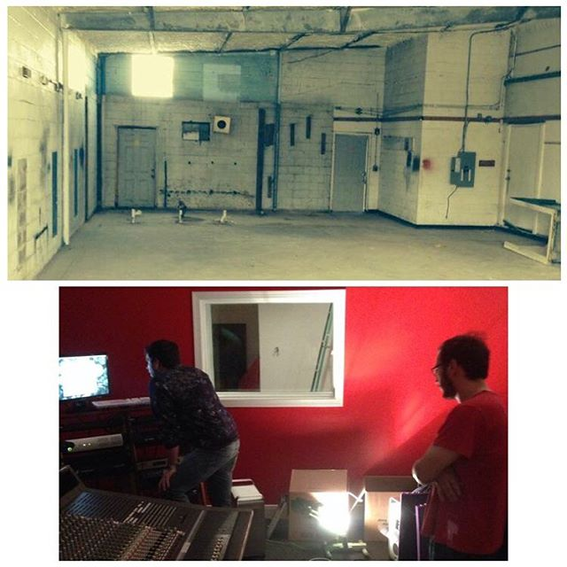 Little throwback to when this was an empty building and rooms with no acoustic treatment. Who is this guy on the computer?  #blackbeardstudios #recordingstudio #throwback #earlydays #studiolife #recording #audio #sound #houston
