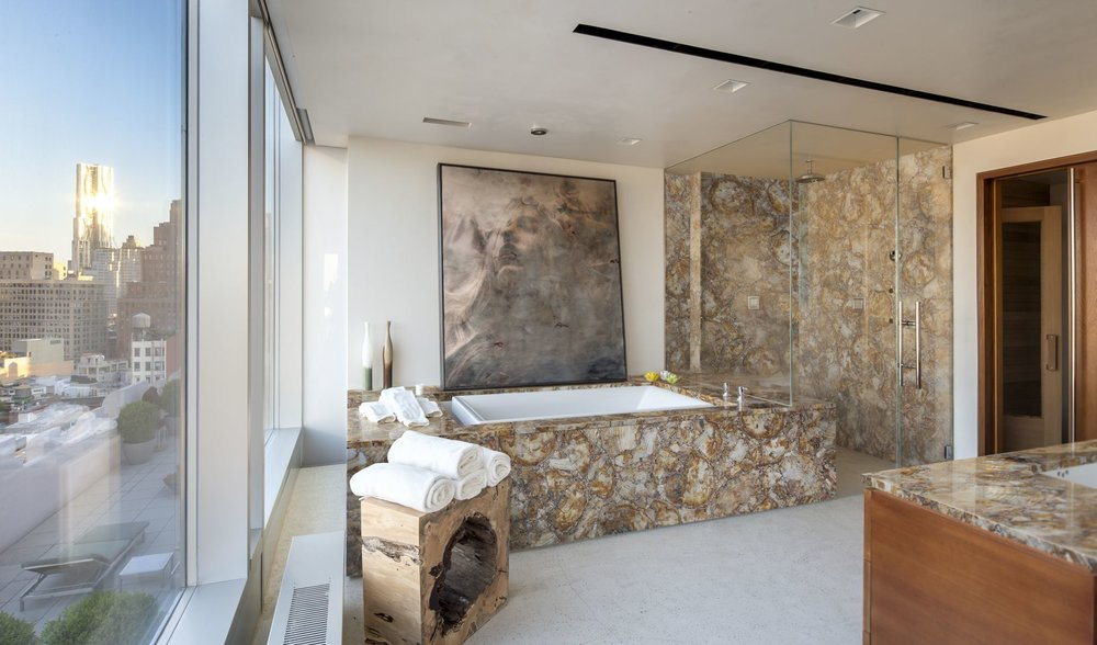 petrified wood yellow bathroom.jpg