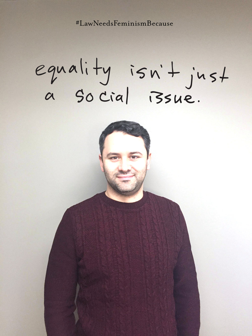 "#LawNeedsFeminismBecause: ""equality isn't just a social issue."""