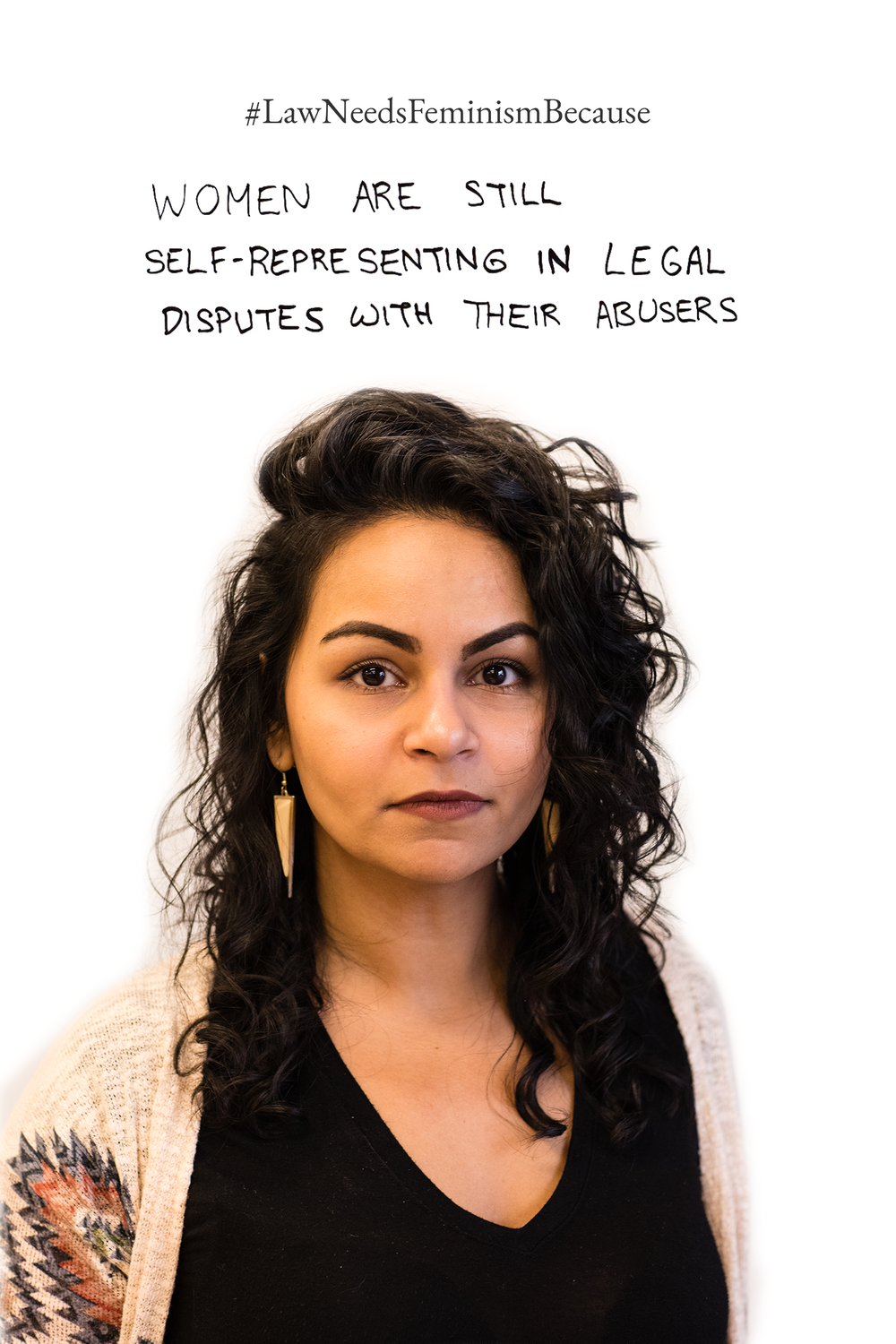 Law Needs Feminism Because  women are still self-representing in legal disputes with their abusers