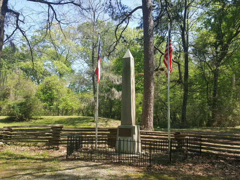 The Peace Obelisk at Port Hudson Battlefield