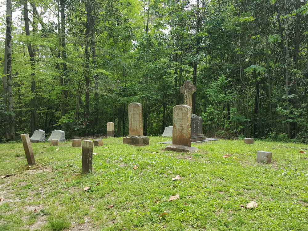 The family cemetery on the property at Longwood.