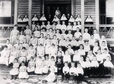 Archive photo of the St. Mary's orphans.
