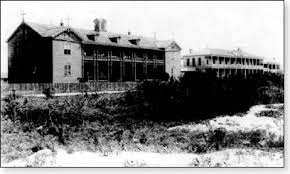 Archive photo of St. Mary's Orphanage prior to the Great Storm of 1900.