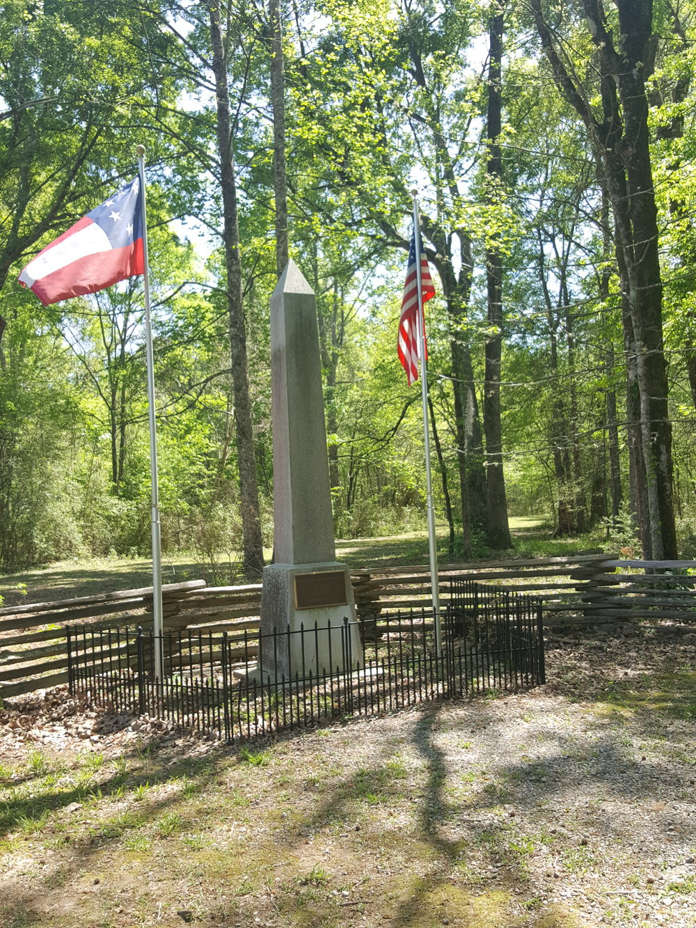 The site of the grave where one Union and one Confederate soldier were buried together in the same coffin at Port Hudson. Let's just say they do not rest in peace! Photo: Michelle Tebow
