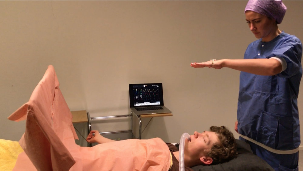 """Initial concepts –Layered touch : Another concept is the faceless gestural interaction """"layered touch"""", which enables the Anaesthesia nurse to apply Anaesthesia machine settings on the patient through gestural interactions."""