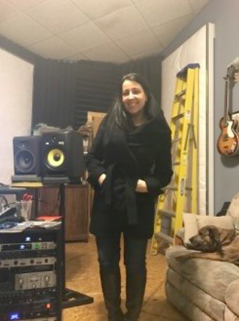 Nikki at the Troubador Recording Studio