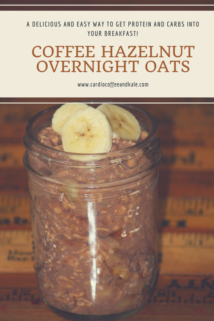 coffee hazelnut overnight oats