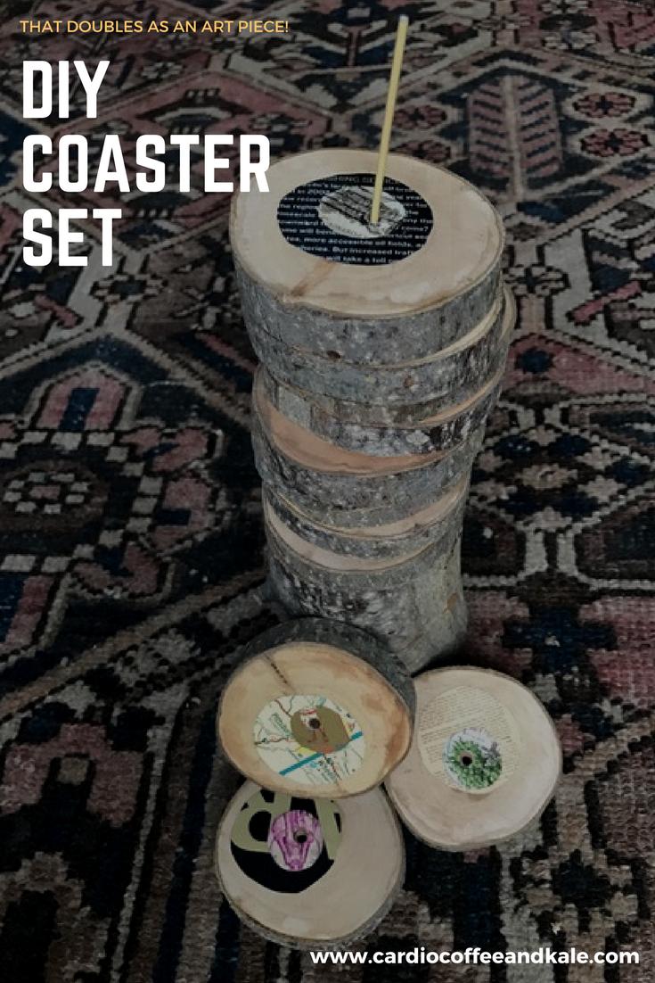 DIY Coaster Set www.cardiocoffeeandkale.com