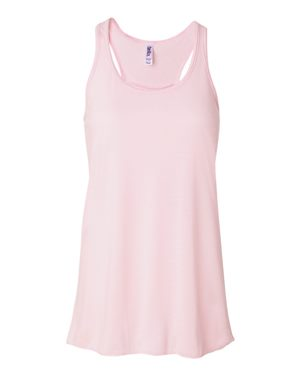 Bella Flowy Tank Pink - Gathered, razor back gives a fabulous, relaxed fit!  Super soft fabric looks great with jeans too!