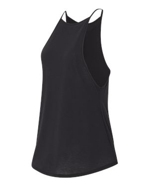 Alternative Tank Black - High neck,  A-line cut, can go from gym to dinner!
