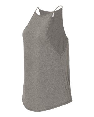 Alternative Tank Grey - High neck,  A-line cut, can go from gym to dinner!