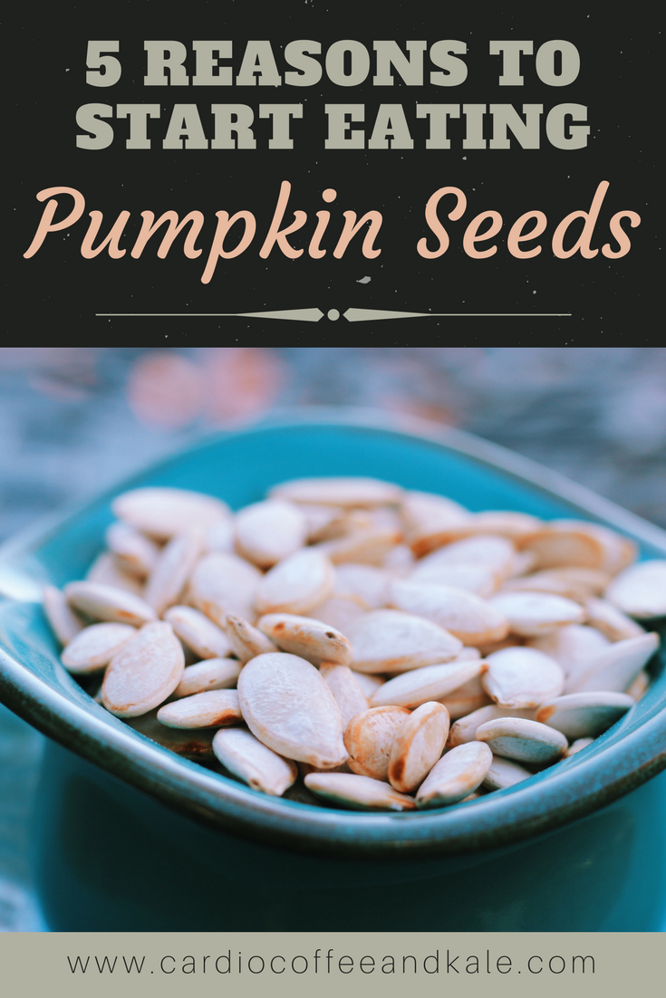Did you know pumpkin seeds have more protein than other nuts and seeds?  They are also loaded with tons of nutrients for a healthy body!  Here are 5 reasons to stock them in your clean eating pantry! .png