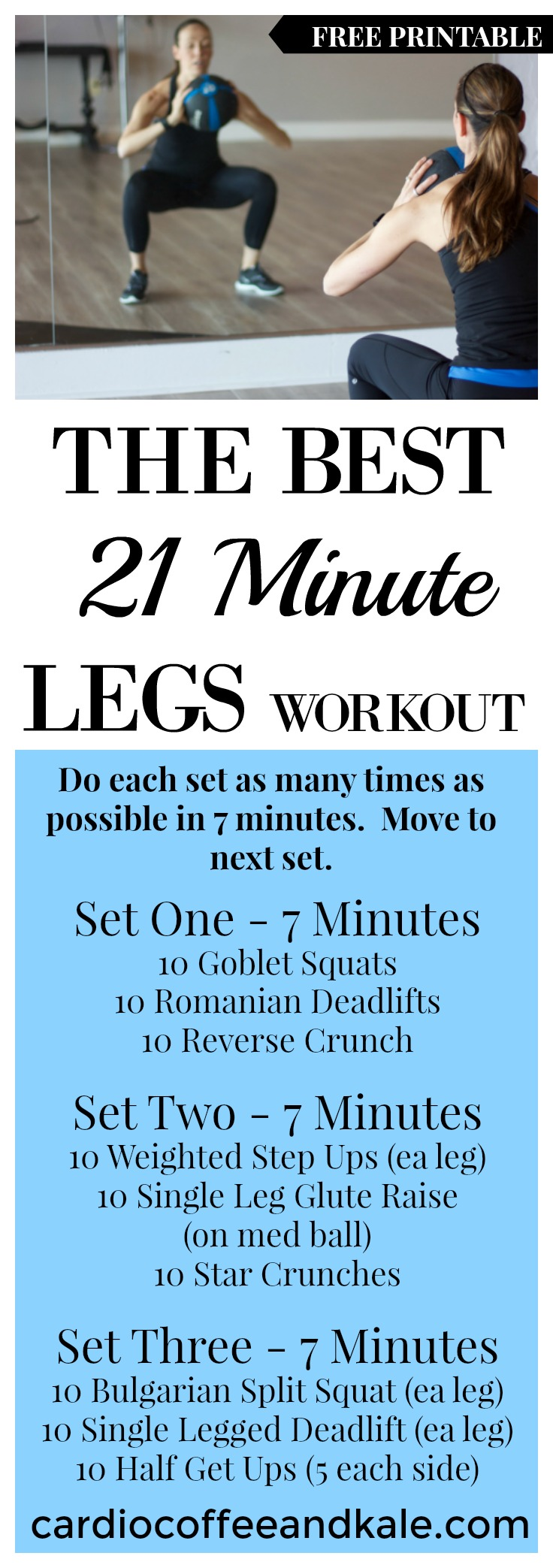 Short on time?  This 21 minute workout is the perfect lower body, fat burning circuit!  .jpg