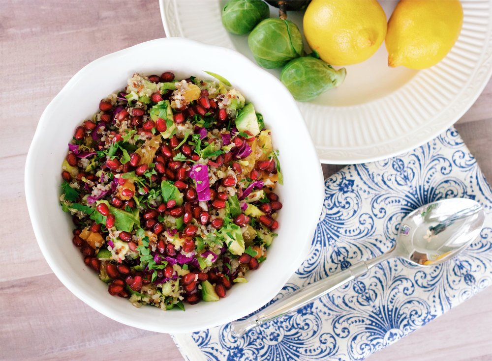 This salad is packed with superfoods and is one of my family's absolute favorites!  The superfoods are loaded with tons of nutrients, antioxidants, anti-inflammatory properties, and heart healthy fats. It's a flavor explosion!  It's a little savory, a little sweet, and even has some crunch...it's seriously delicious!