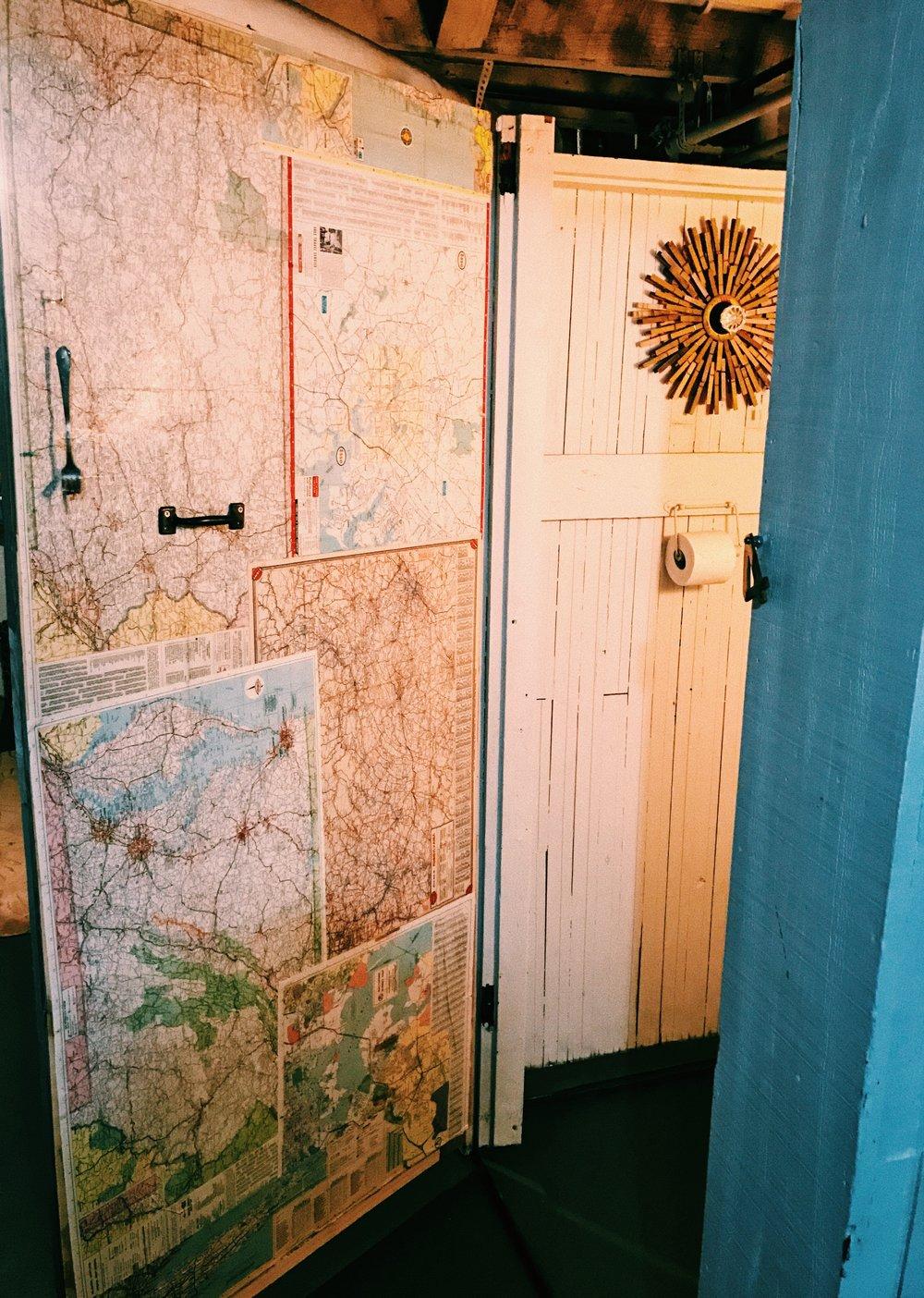 door made out of scrap lumber