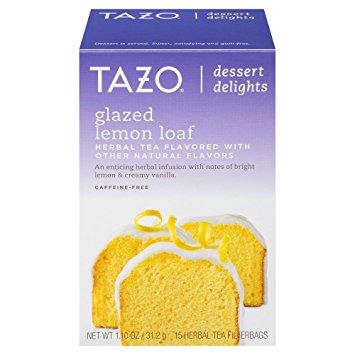 tazo glazed lemon loaf tea. www.cardiocoffeeandkale.com