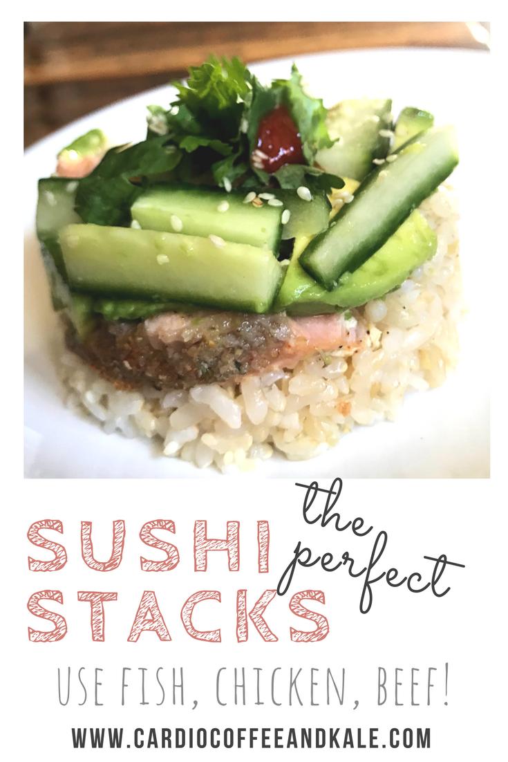 perfect sushi stacks www.cardiocoffeeandkale.com