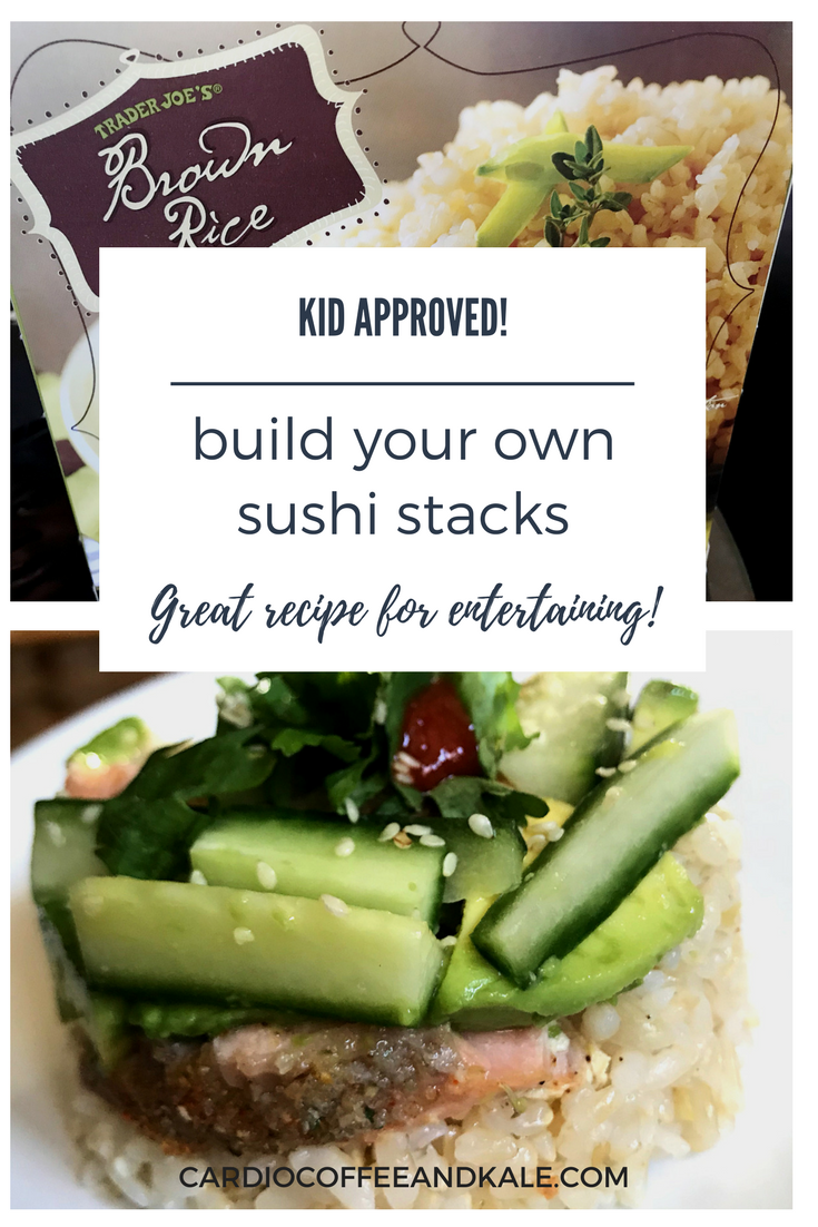 kid approved sushi stacks. www.cardiocoffeeandkale.com