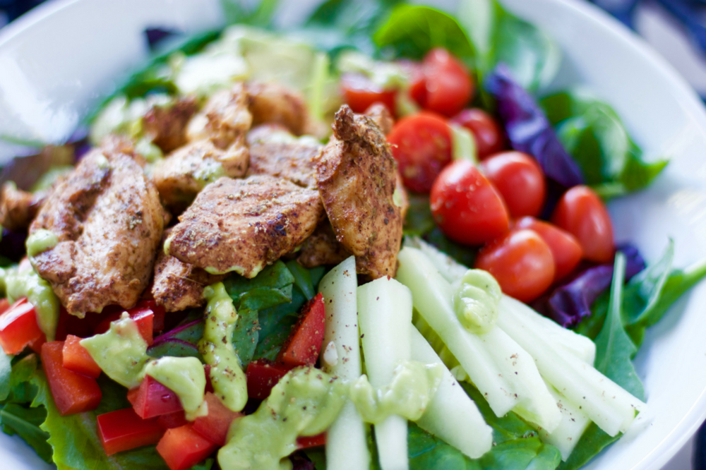 Skinny Southwest Chicken Salad With Avocado Ranch Dressing Cardio