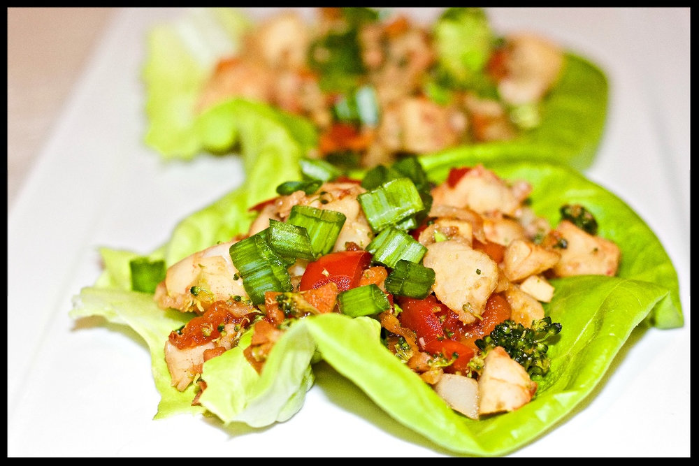 Asian Shrimp Lettuce Wraps cardiocoffeeandkale.com