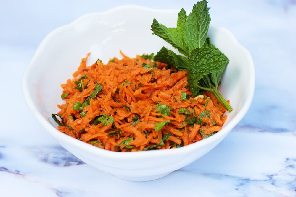 Moroccan Carrot Salad cardiocoffeeandkale.com