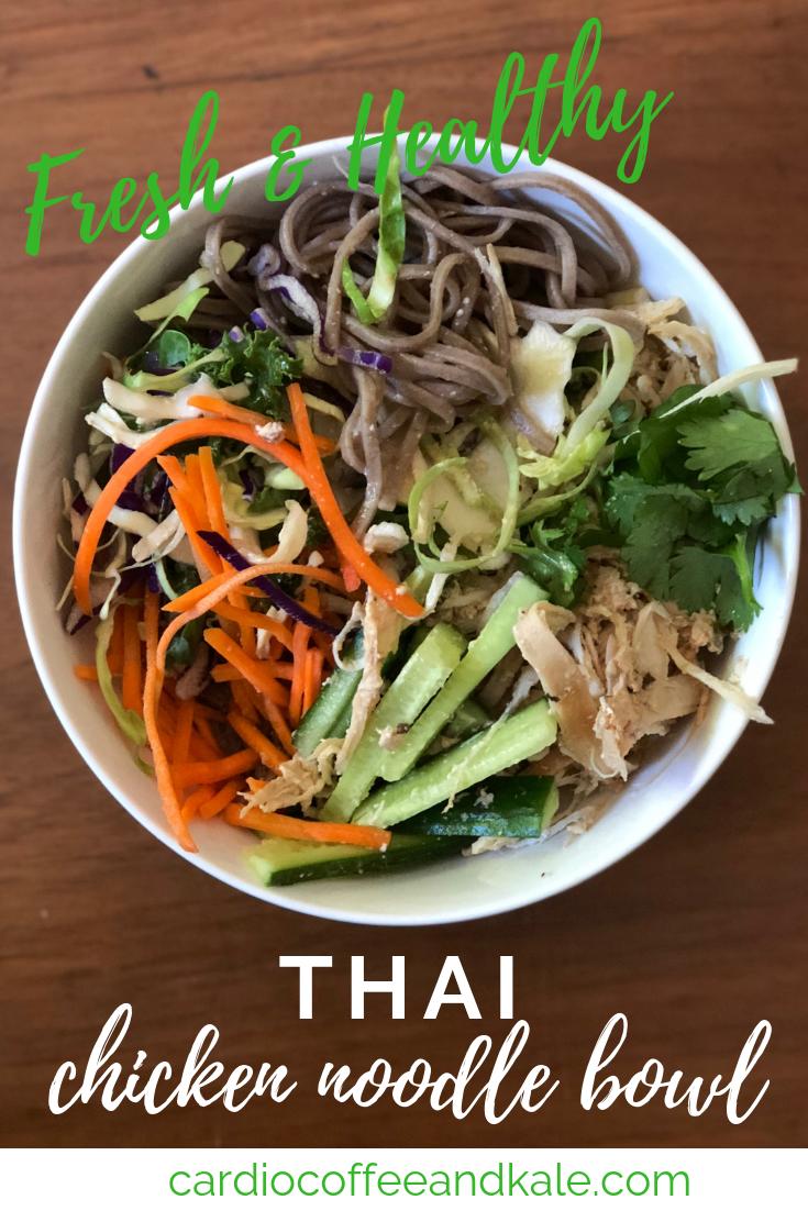 thai chicken noodle bowls. www.cardiocoffeeandkale.com
