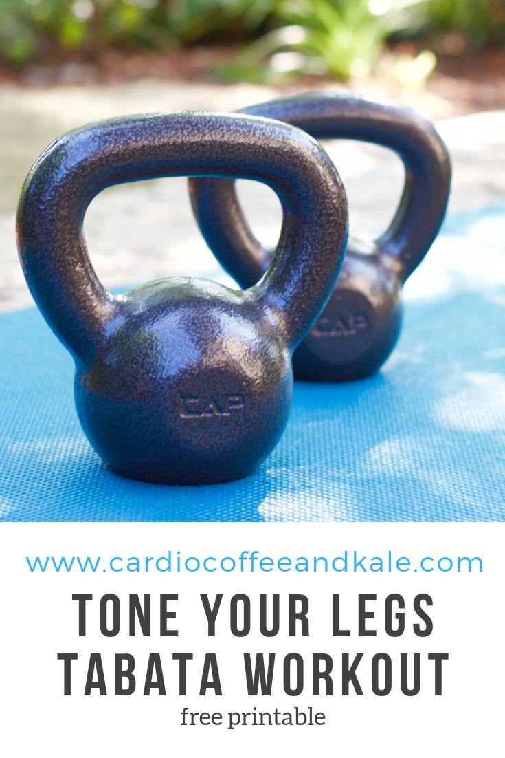 tone your legs tabata workout. www.cardiocoffeeandkale.com