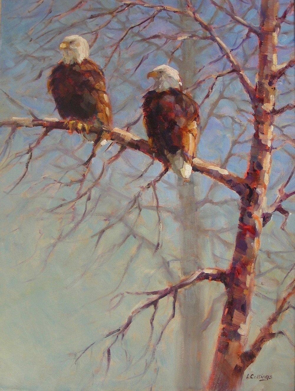 "1 - On High - 24 x 18"", oil on canvas, 4650-"