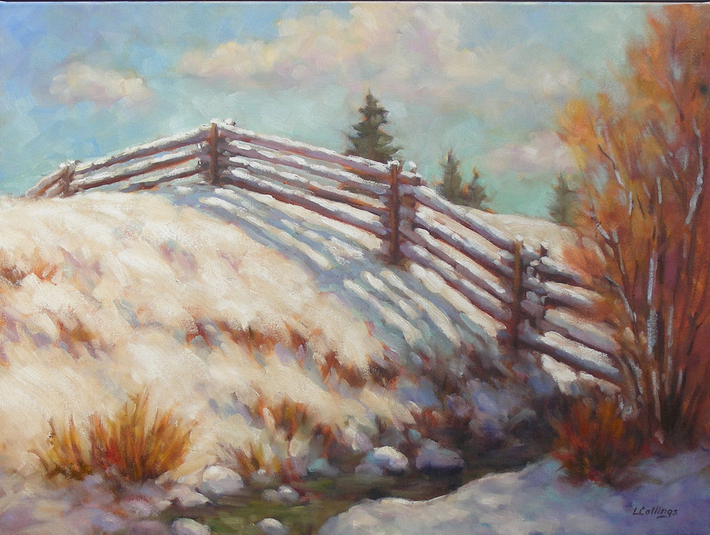 """11 - Creek Bank - 18 x 24"""", oil on canvas, $650-"""