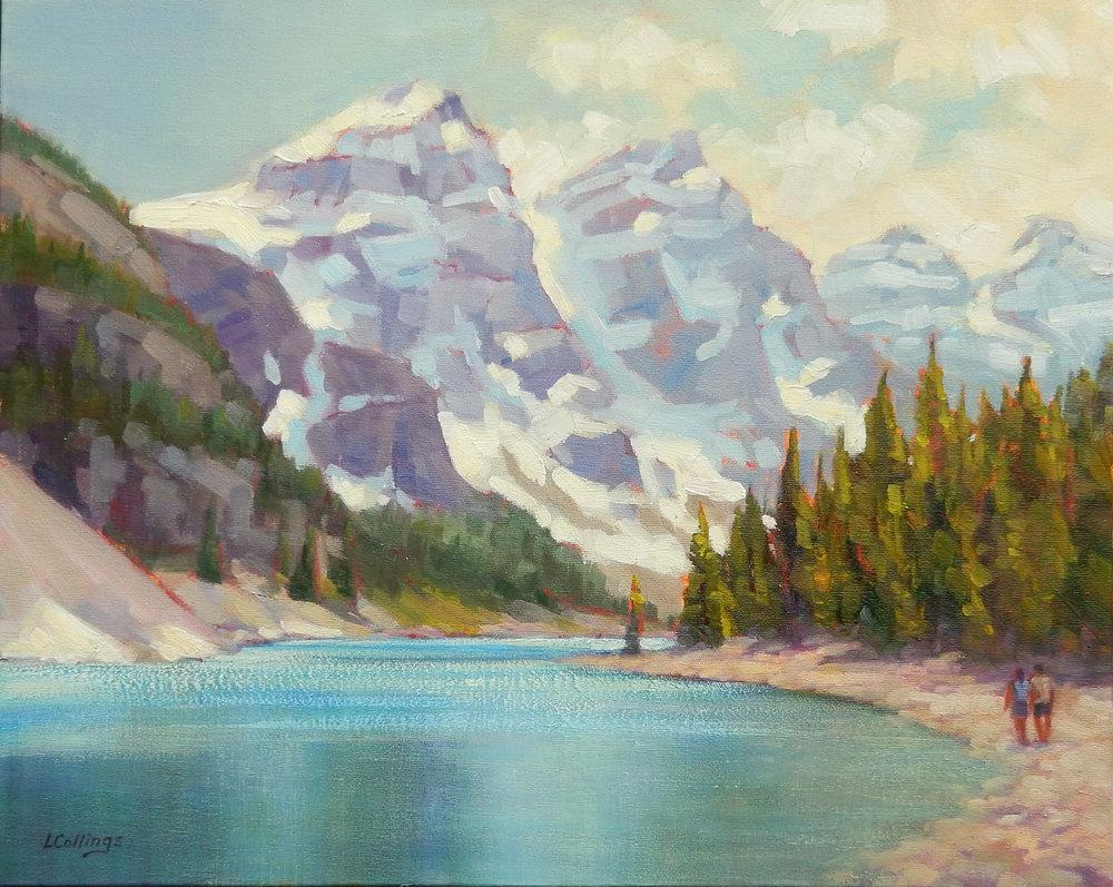 "4 - Moraine Lake - 16 x 20"", oil on canvas, $480-"