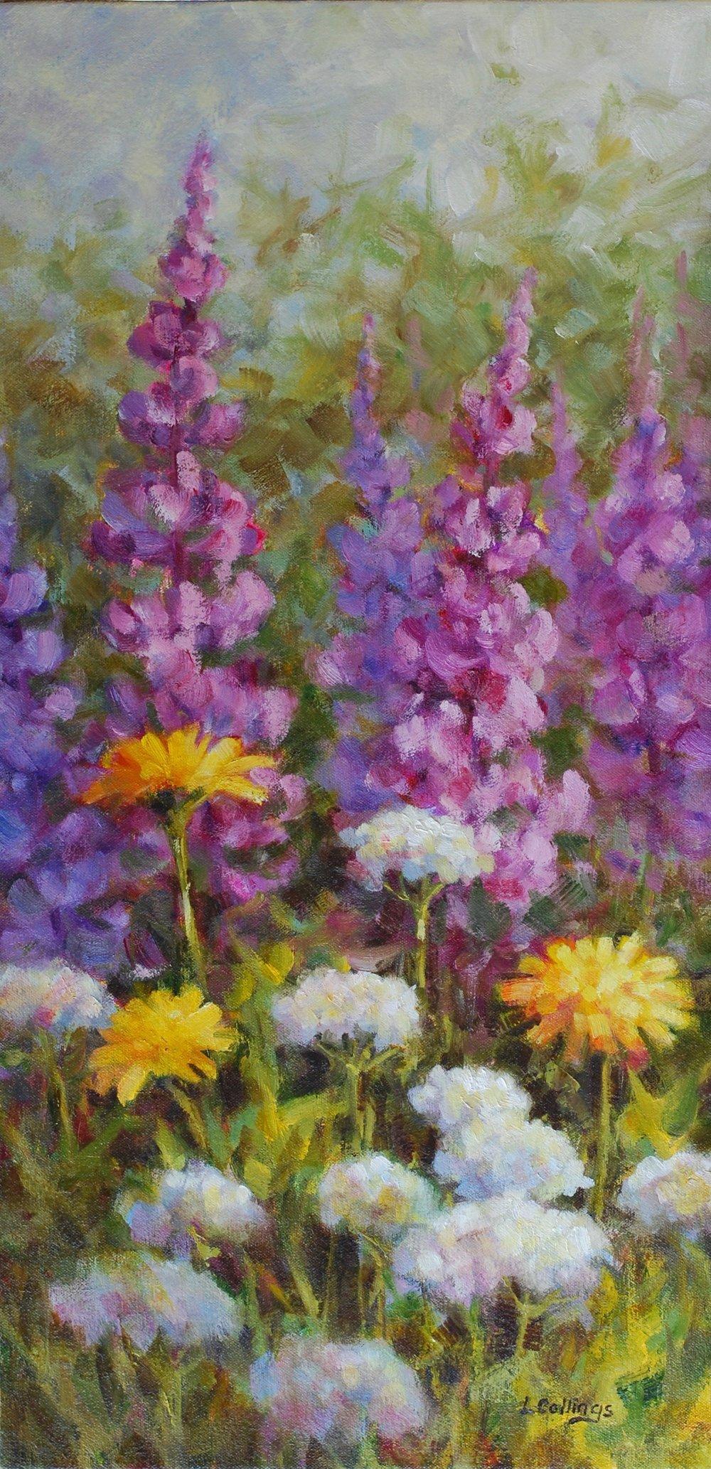 """5 - Yarrow - 24 x 12"""", oil on canvas, $430-"""