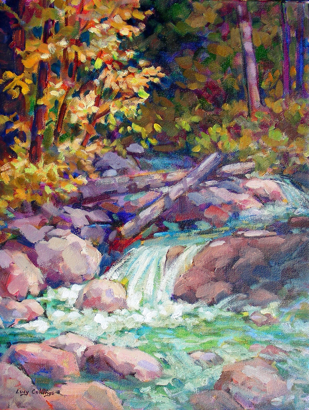 "14 - Coastal Creek - 16 x 12"", oil on canvas, $330-"