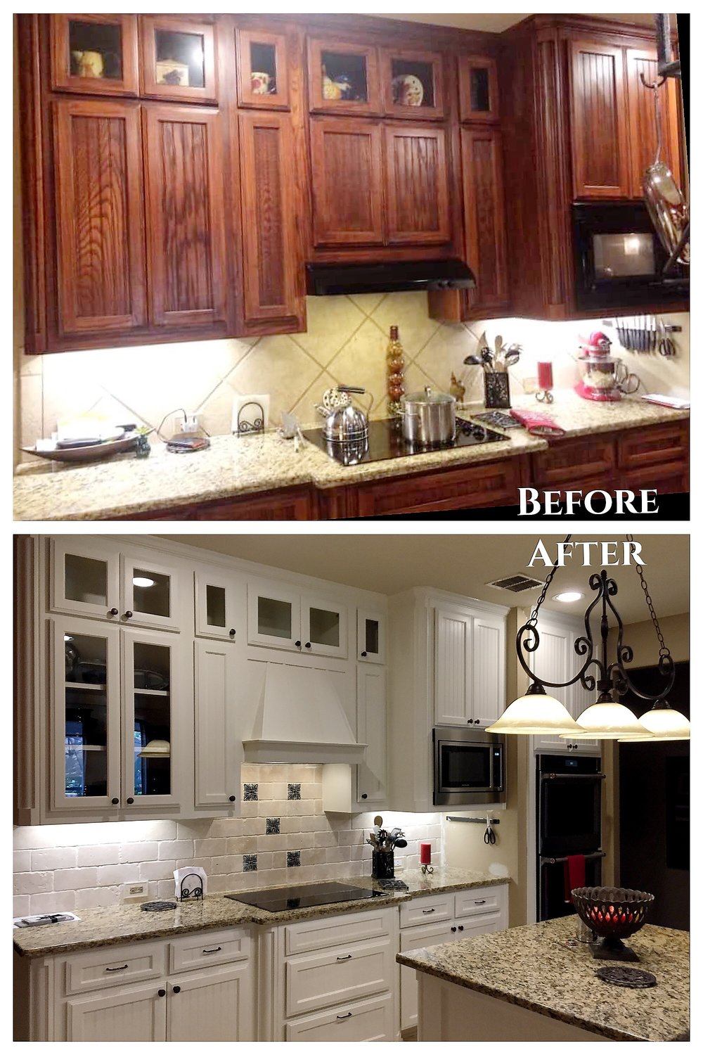 White Kitchen Cabinet Painting