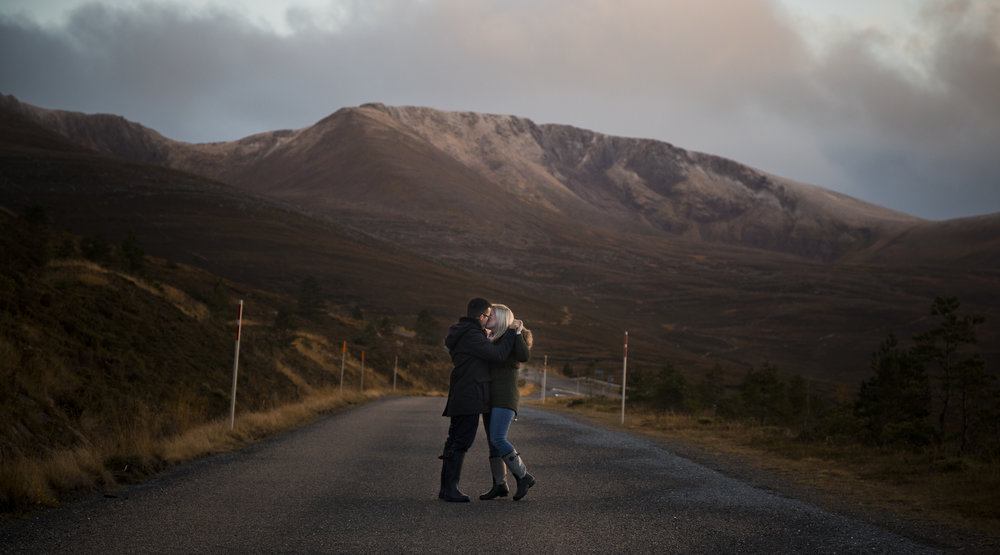 Natalie & Ewen Engagement Shoot, Aviemore